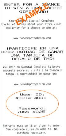 Homedepot Receipt Customer Satisfaction Survey Headquarters