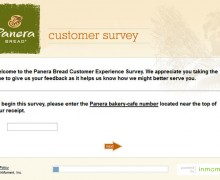 Panera Bread Customer Experience Survey