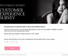 Victoria's Secret Customer Satisfaction Survey