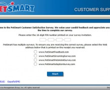 PetSmart Customer Satisfaction Survey