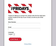 T.G.I. Friday's Guest Perception Survey