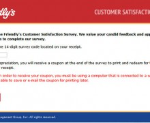Friendly's Customer Satisfaction Survey