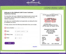 Hallmark Gold Crown Customer Experience Survey