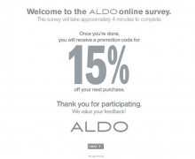 Aldo Shoes Survey