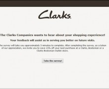 Clarks Companies Customer Feedback Survey