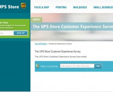The UPS store Customer Experience Survey
