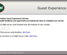 Perkins Guest Experience Survey
