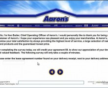 Aaron's Customer Feedback Survey