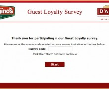 Papa Gino's and D'Angelo Guest Loyalty Survey