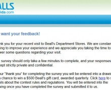 Bealls Department Stores Survey