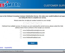 Grooming PetSmart Service Customer Satisfaction Survey