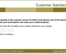D&W Fresh Market Customer Survey
