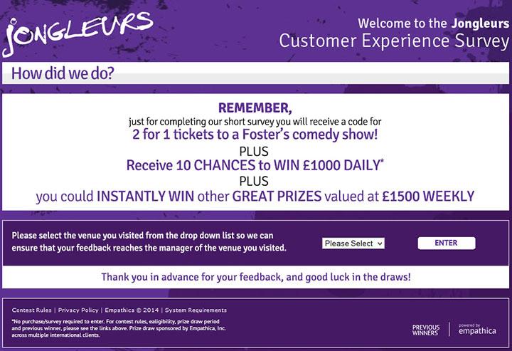 Jongleurs-Customer-Experience-Survey