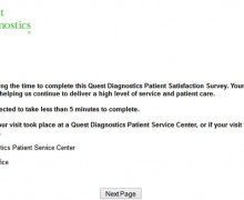 Quest Diagnostics Patient Satisfaction Survey