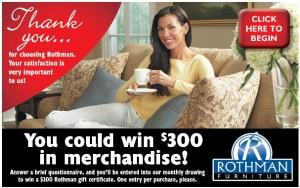 Rothman-Customer-Post-Purchase-Survey
