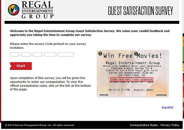 Regal-Entertainment-Group-Guest-Satisfaction-Survey