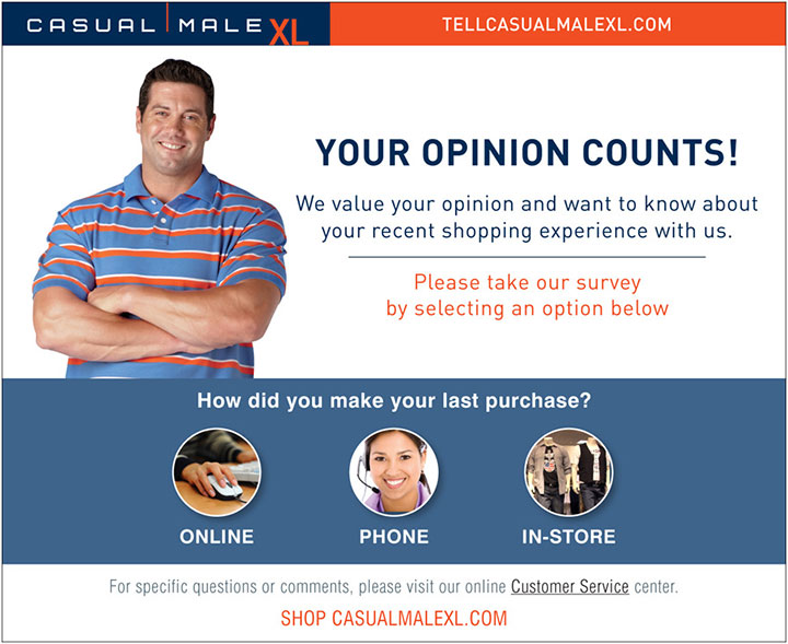 Tell-Casual-Male-XL-Survey