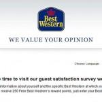 Best Western Guest Satisfaction Survey