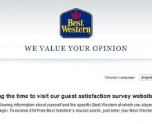 Best Western Guest Satisfaction Survey