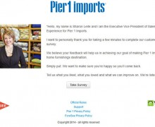 Pier 1 Imports Customer Satisfaction Survey