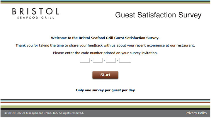 Bristol-Seafood-Grill-Guest-Satisfaction-Survey