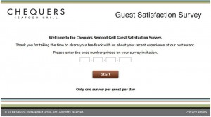 Chequers-Seafood-Grill-Guest-Satisfaction-Survey