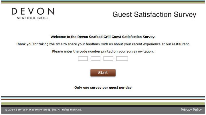 Devon-Seafood-Grill-Guest-Satisfaction-Survey