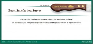 Smith-&-Wollensky-Guest-Satisfaction-Survey