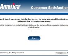 Cash America Customer Satisfaction Survey