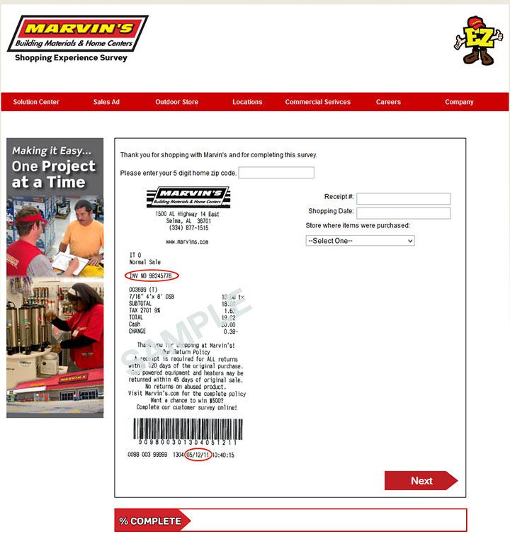 Marvin's-Building-Materials-Customer-Survey