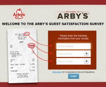 Arby's Guest Satisfaction Survey