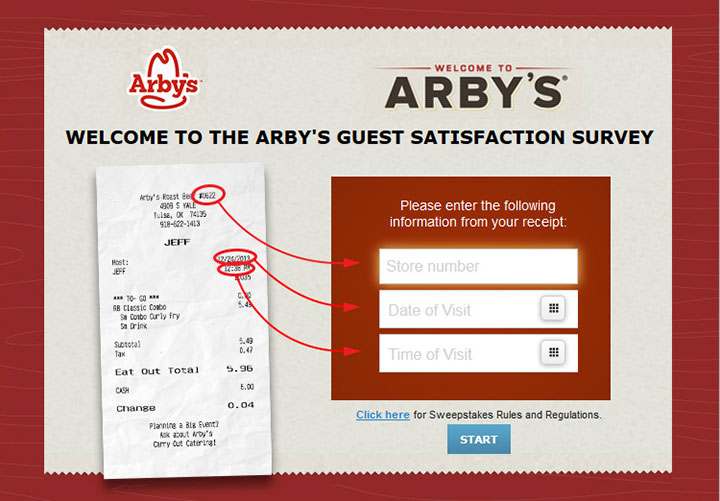Arby's-Guest-Satisfaction-Survey