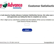Cash America Payday Advance Customer Satisfaction Survey