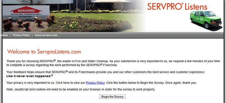 SERVPRO-Listens---Customer-Job-Satisfaction-Survey