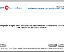 BMO InvestorLine Client Satisfaction Survey