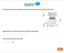 Sears FeedBack Survey