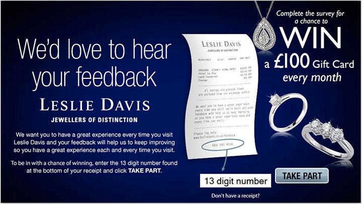 Leslie-Davis-Customer-Feedback-Survey
