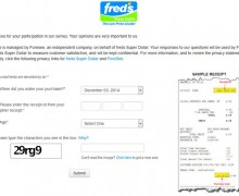 Fred's Super Dollar Survey