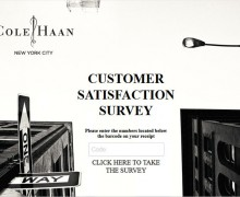 Cole Haan Customer Satisfaction Survey