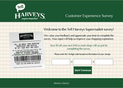 harveys-supermarket-customer-experience-survey