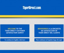 Tiger Direct Customer Satisfaction Survey
